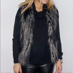 H&M Divided grey & black faux fur vest